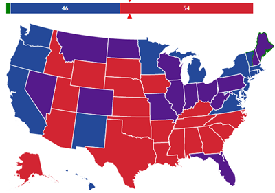 Senate Map - Us senate map 2015