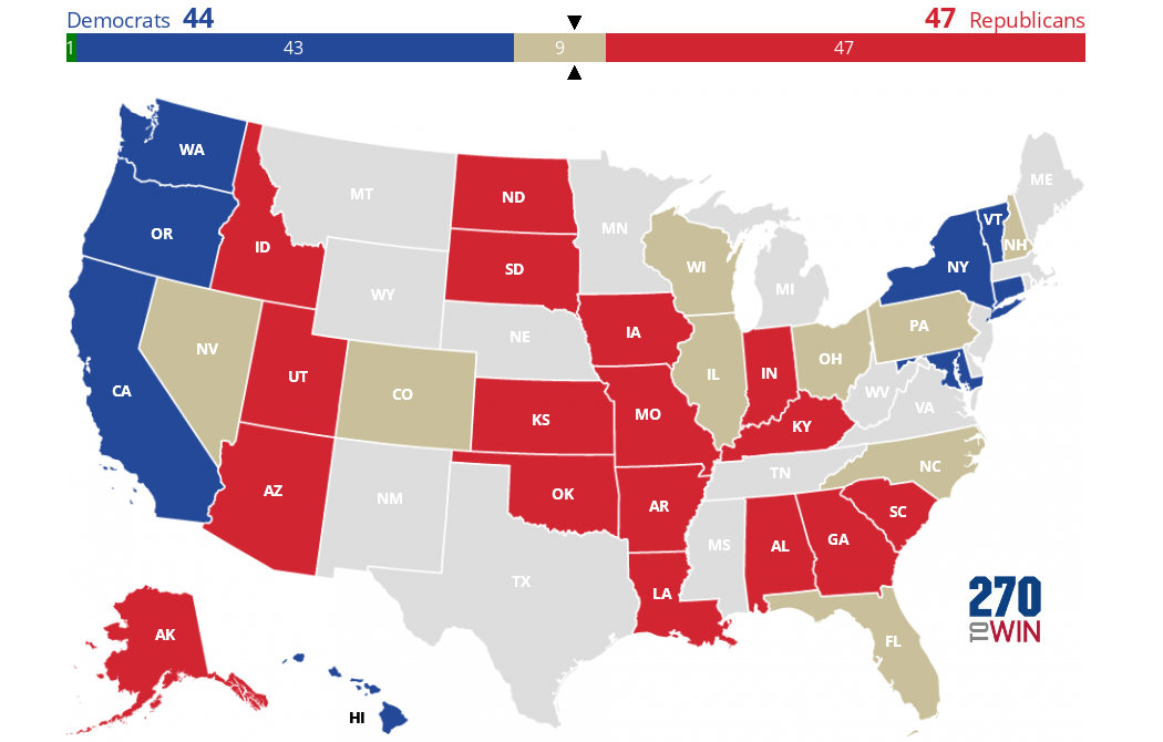 2016 Senate Election Interactive Map