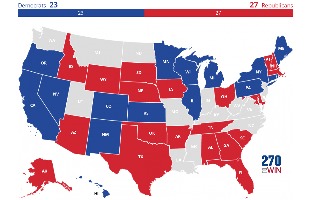 Image of: 2018 Gubernatorial Elections Interactive Map