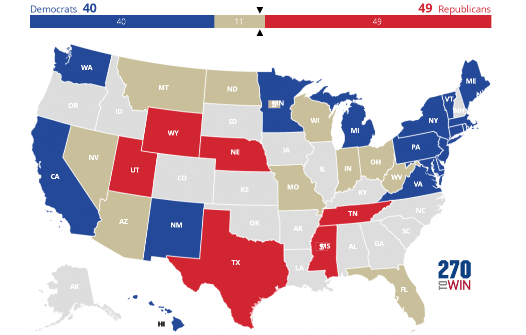 Presidential Election Of 1968 - Map Of Us Without Electoral College 2016