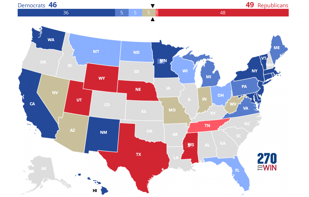 Cnn Key Races Ratings For 2018 Senate Elections