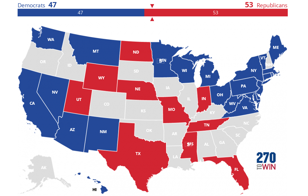 Interactive Us Senate Map 2018 Senate Election Interactive Map