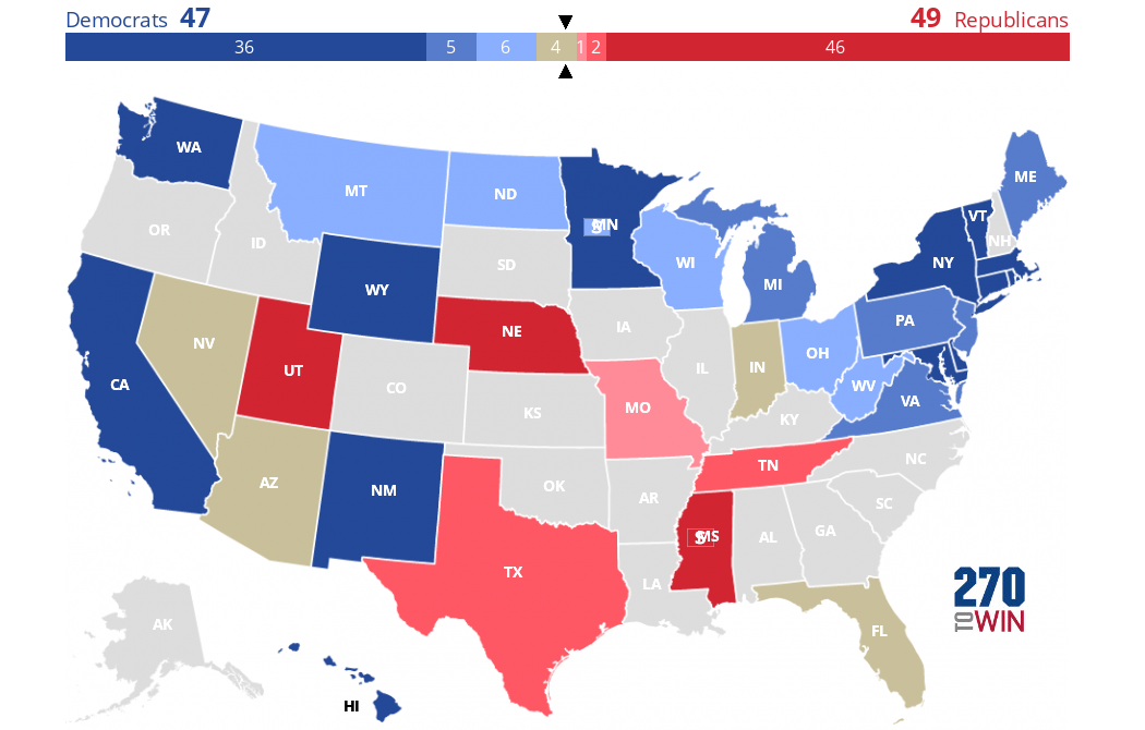 2018 Senate Election Interactive Map - Us-election-map-interactive