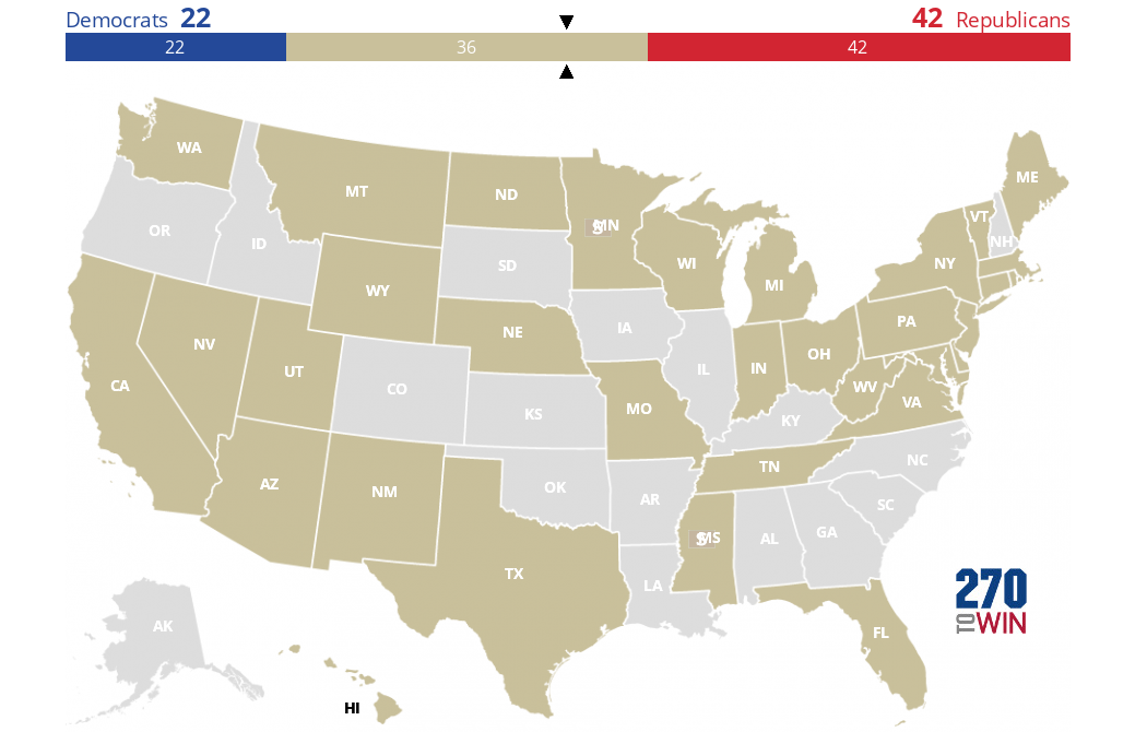 photograph about Electoral Map Printable titled 2018 Senate Elections Blank Map