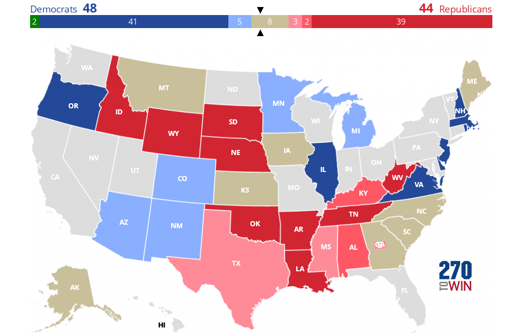 Picture of: 2020 Senate Election Forecast Maps