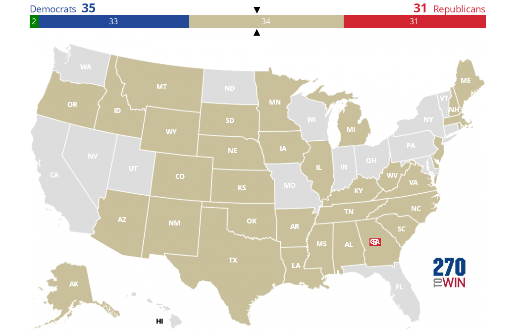 Map Of Us Senators.2020 Senate Election Interactive Map