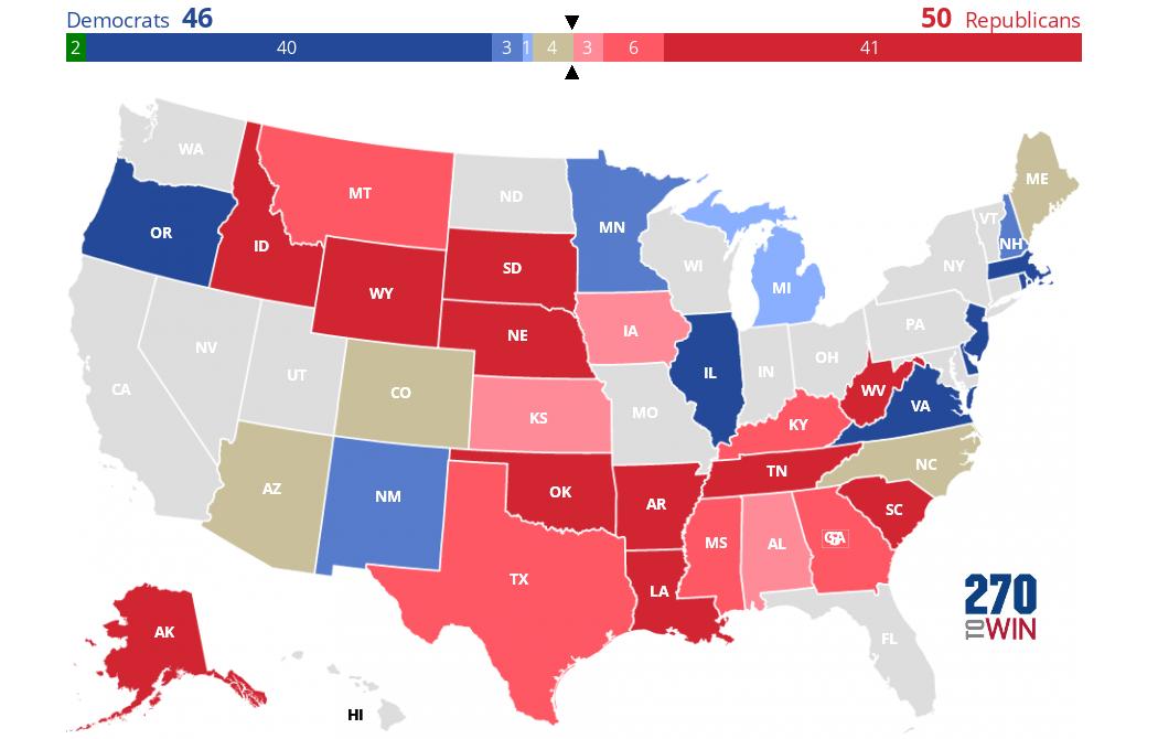 2020 Senate Election Interactive Map