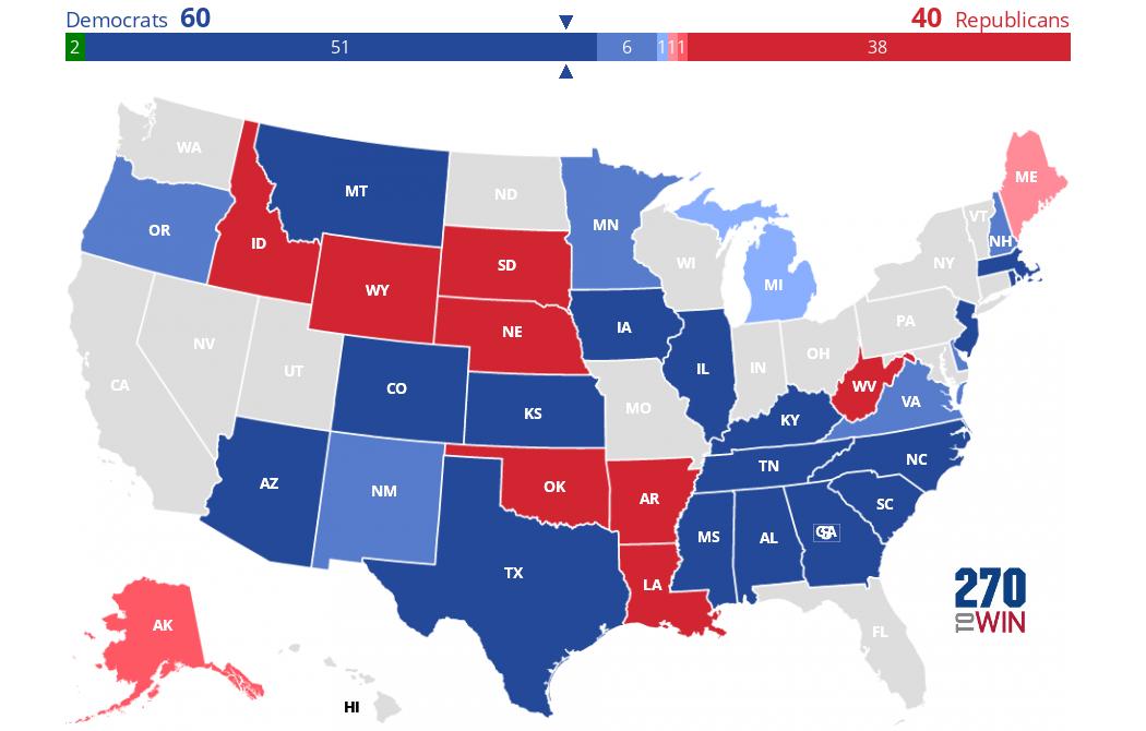 2020 Us Senate Map 2020 Senate Election Interactive Map