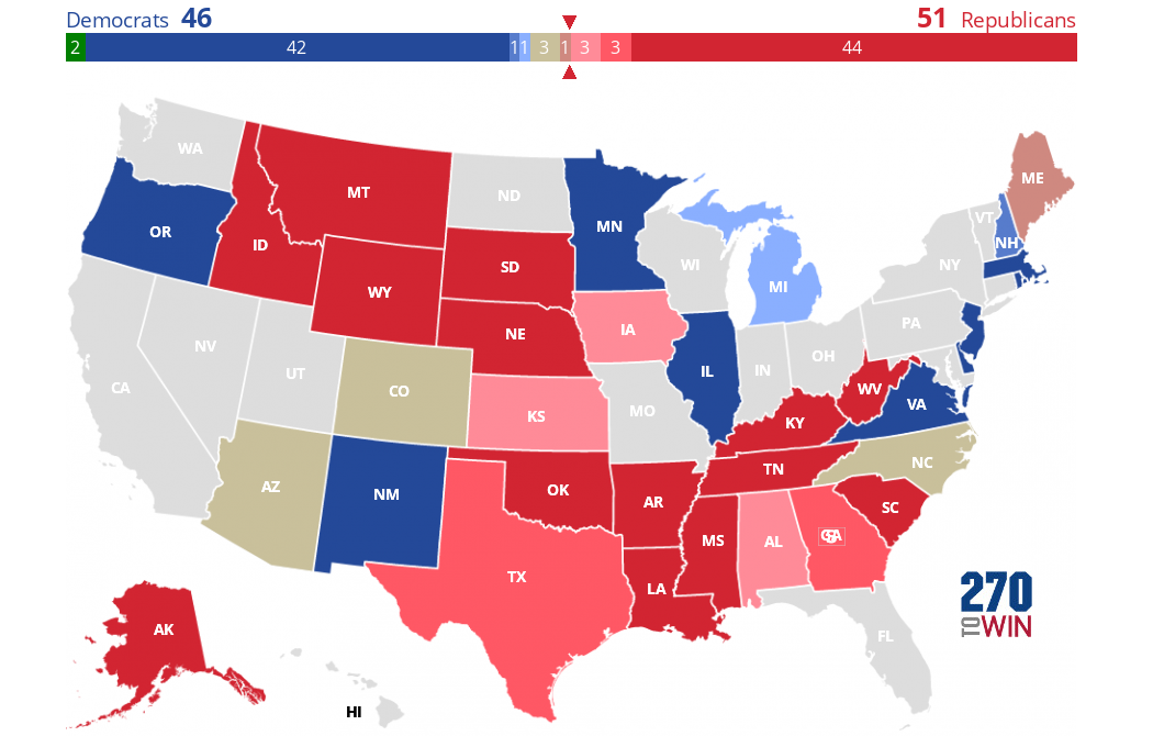 Inside Elections 2020 Senate Ratings