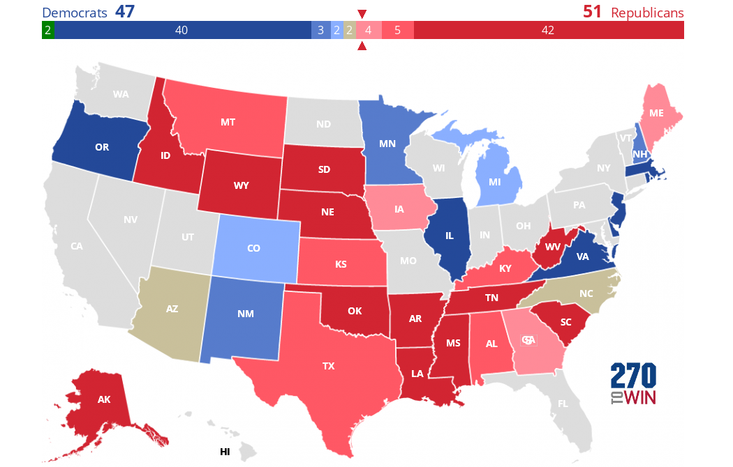 Crystal Ball 2020 Senate Ratings