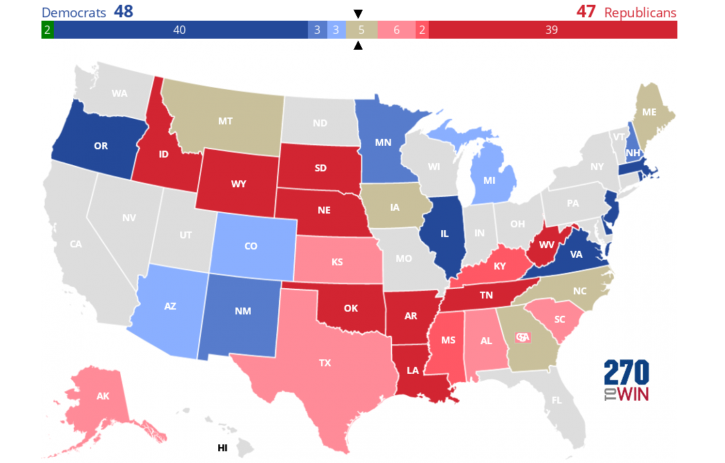 Image of: 2020 Senate Election Forecast Maps