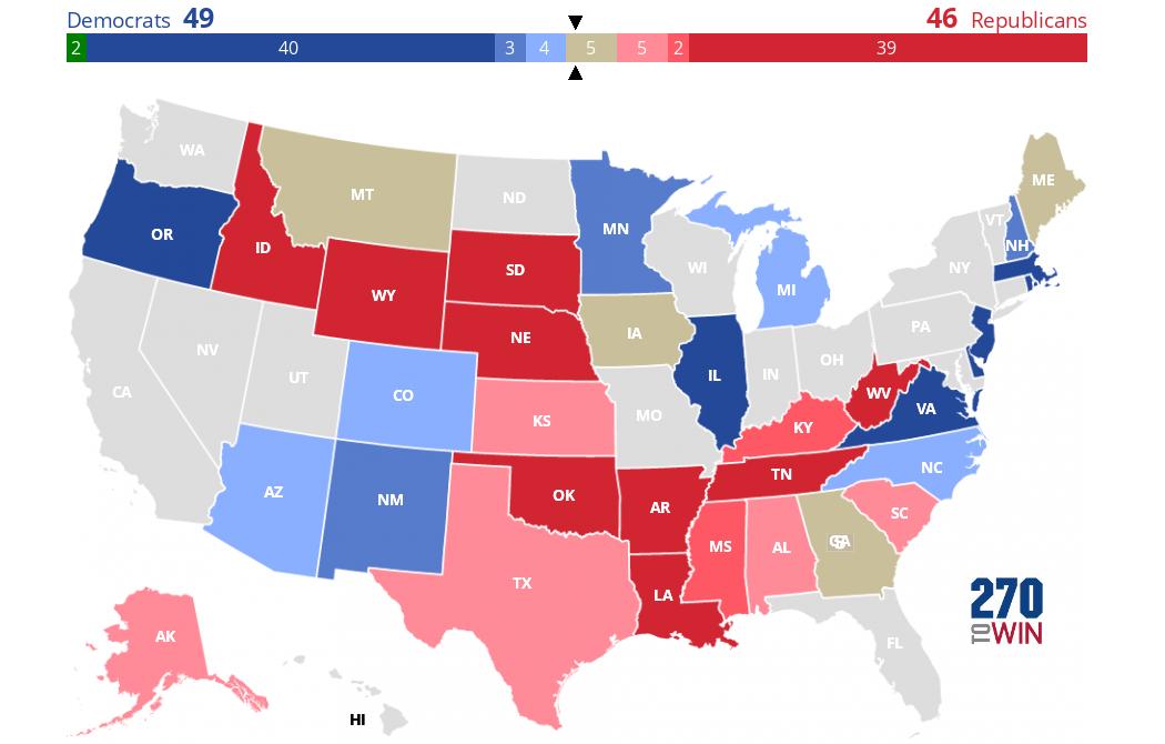 Us Senate Election Map 2020 Senate Election Forecast Maps