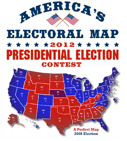 America\'s Electoral Map 2012 Presidential Election Contest