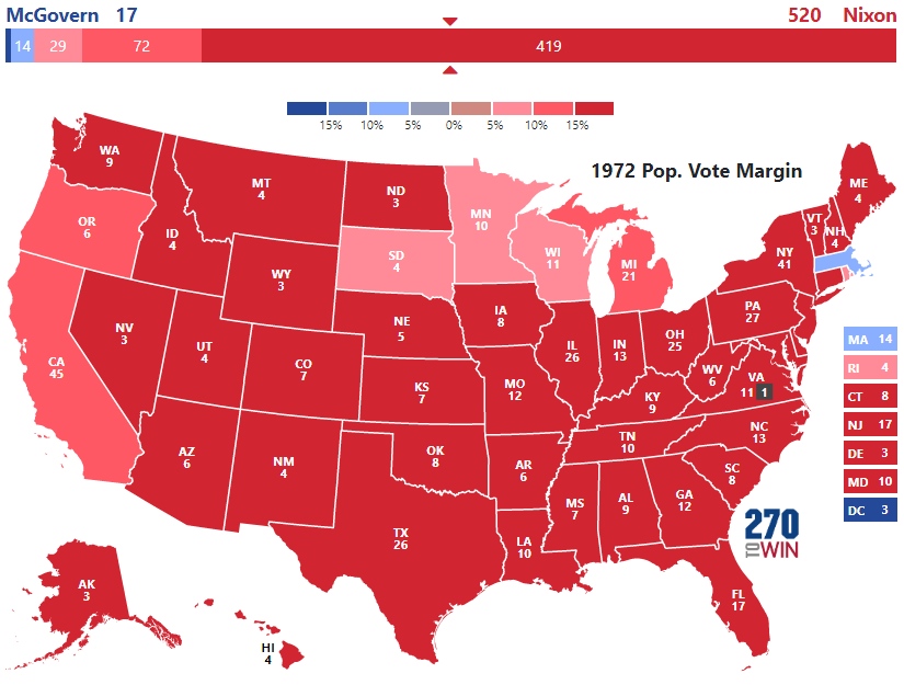Presidential Election Of - Voting maps us presidential elections