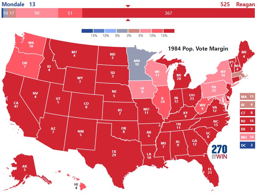 Presidential Election Of - Us states election map