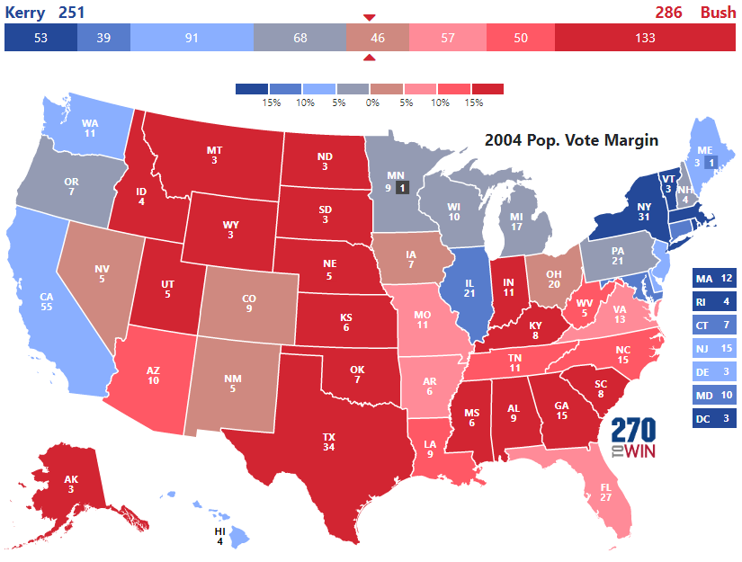 Presidential Election Of - Us election results state map