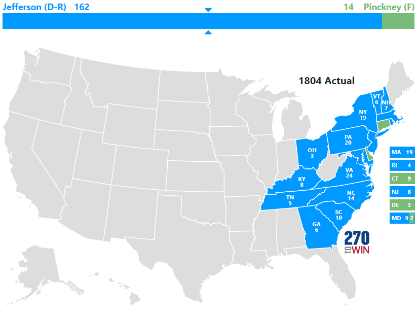 1804 Presidential Election Results