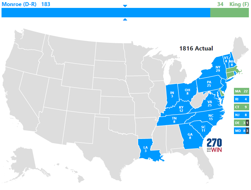 1816 Presidential Election Results
