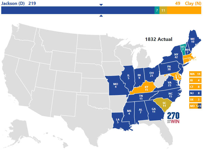 1832 Presidential Election Results