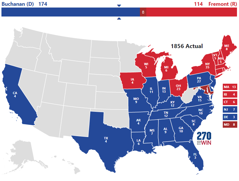 1856 Presidential Election Results