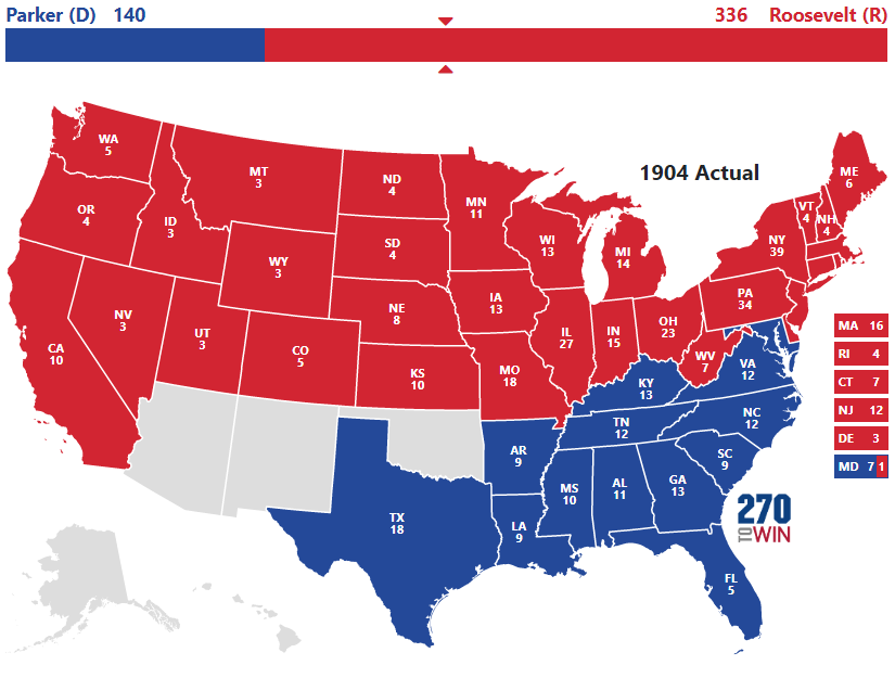 1904 Presidential Election Results