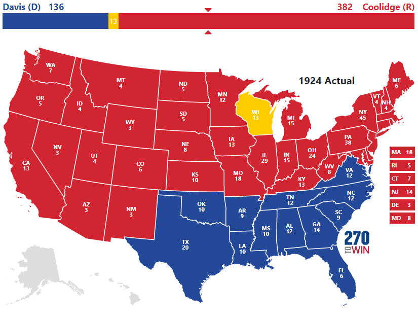 Presidential Election Of - Map of the us electoral college votes