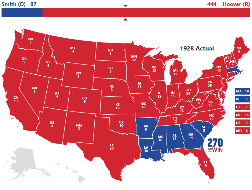 1928 Presidential Election Results