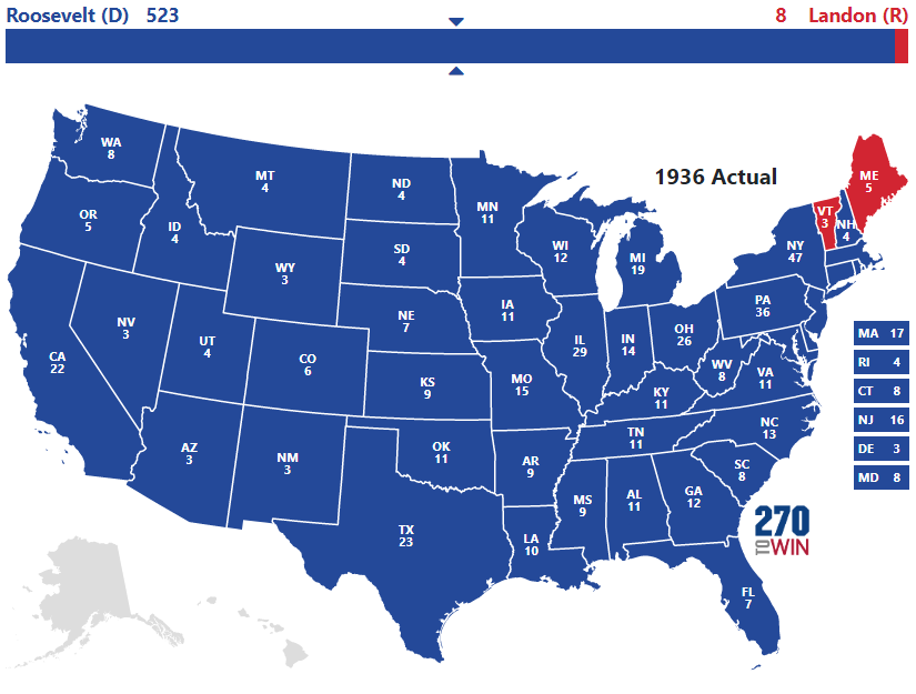 1936 Presidential Election Results
