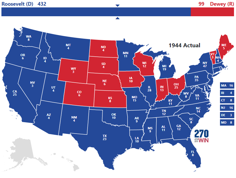 Historical US Presidential Elections 17892016 - Map Of Us Without Electoral College 2016
