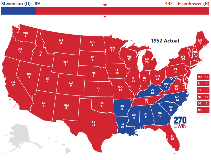 1952 Presidential Election Results