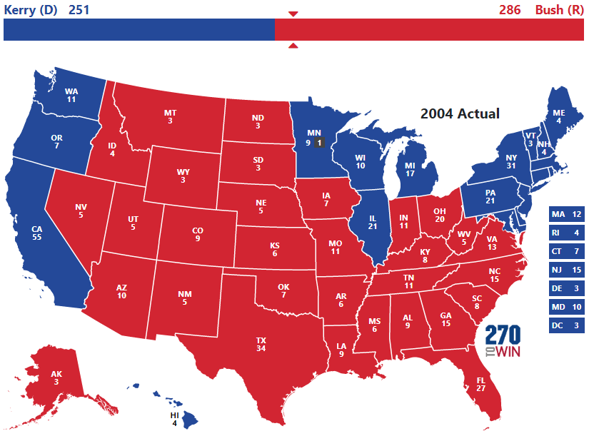 2004 Presidential Election Results