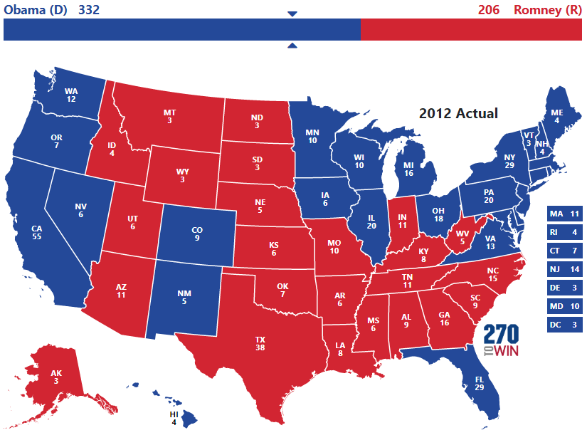 Presidential Election Of - 2012 us presidential election map
