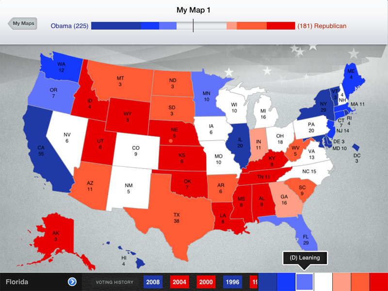 Create and save your own 2012 election scenarios