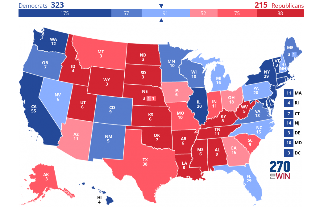 Presidential Popularity >> 2020 Presidential Election Interactive Map