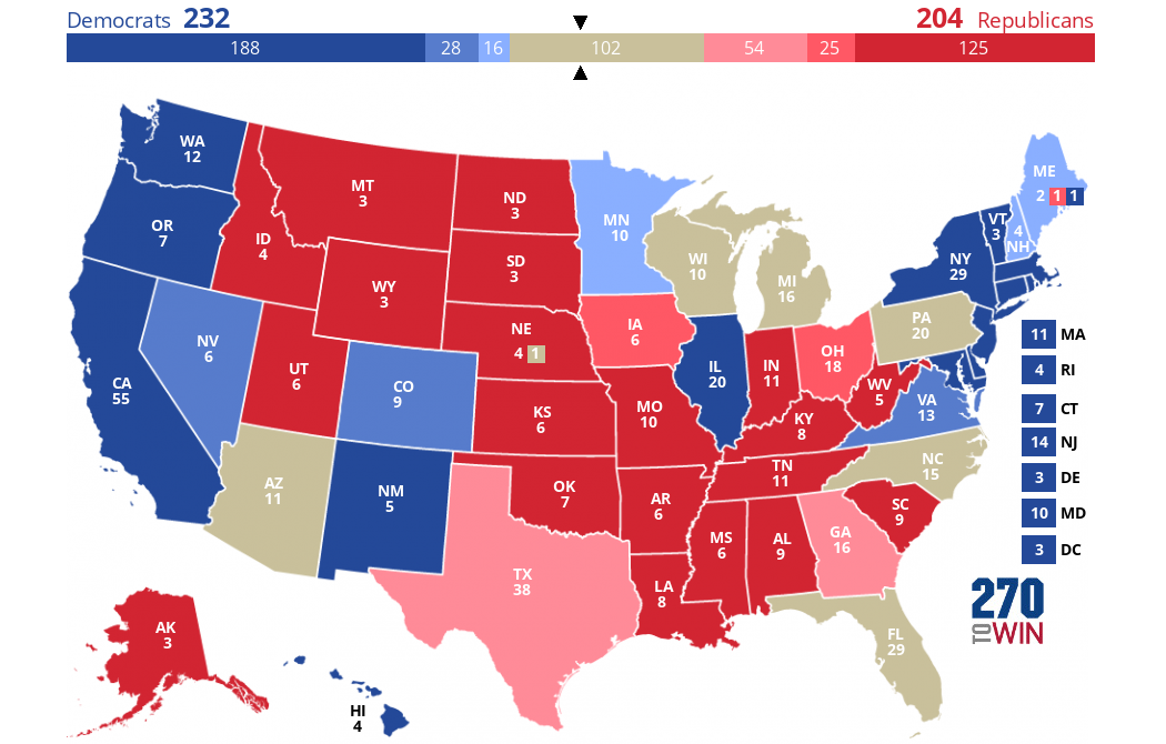 Cook Political Report Electoral College Forecast