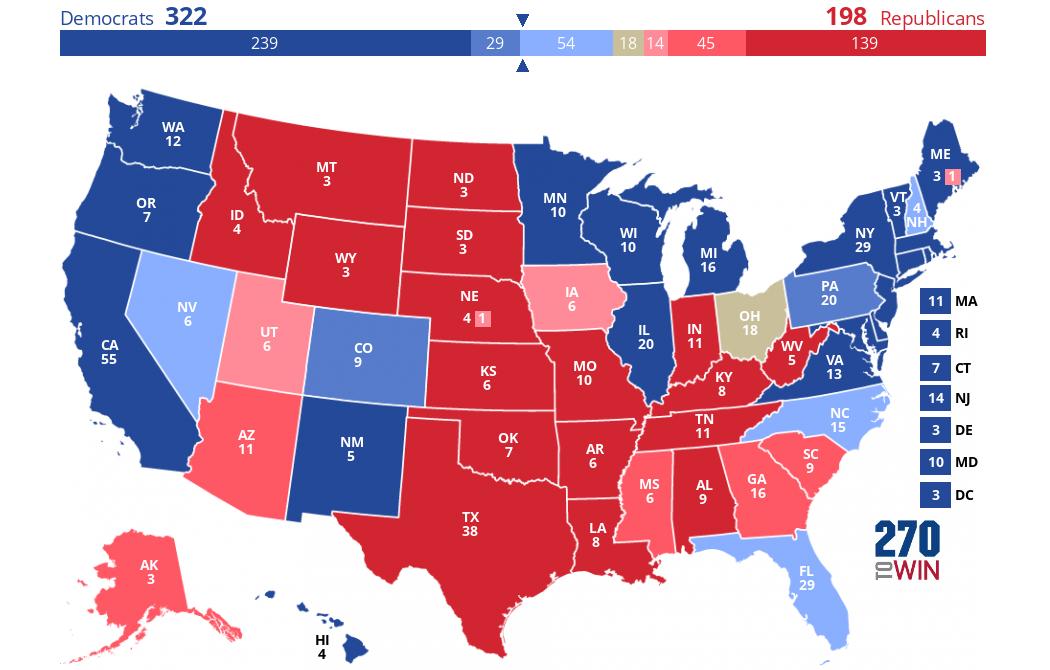 Upshot Electoral Map