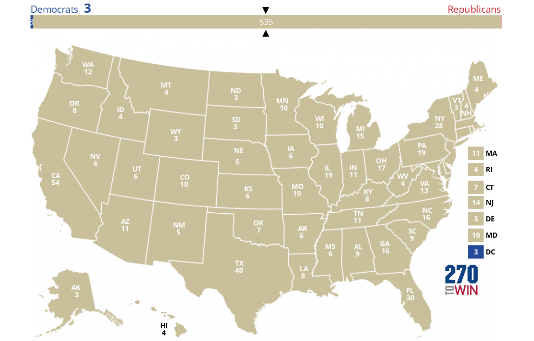 States Voting Same Party in Consecutive Elections