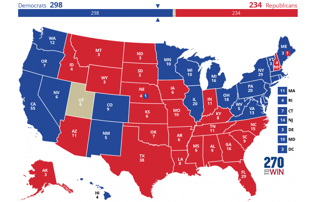 Election Predictions Map The Progressive - Us election prediction map