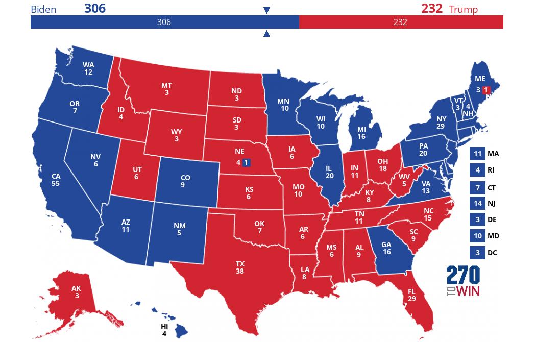 USA valgkart.