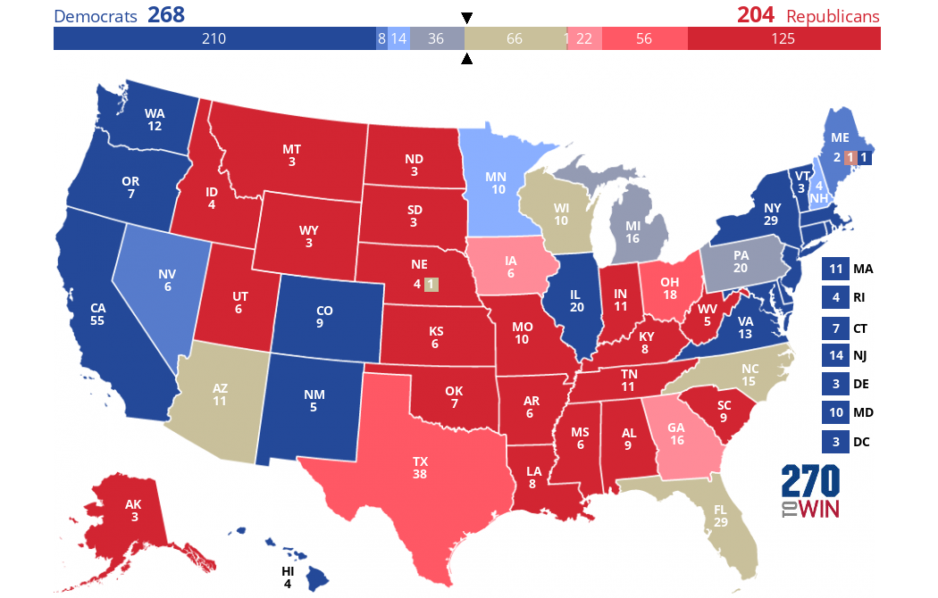 Inside Elections Presidential Ratings