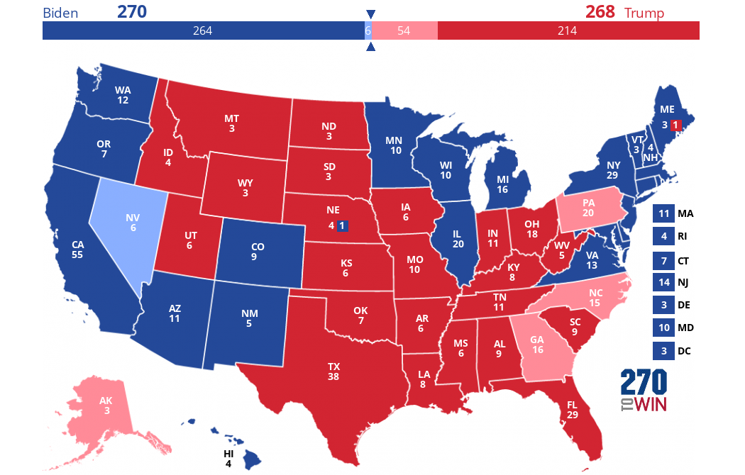 Us Presidential Interactive Map 2020 Presidential Election Interactive Map