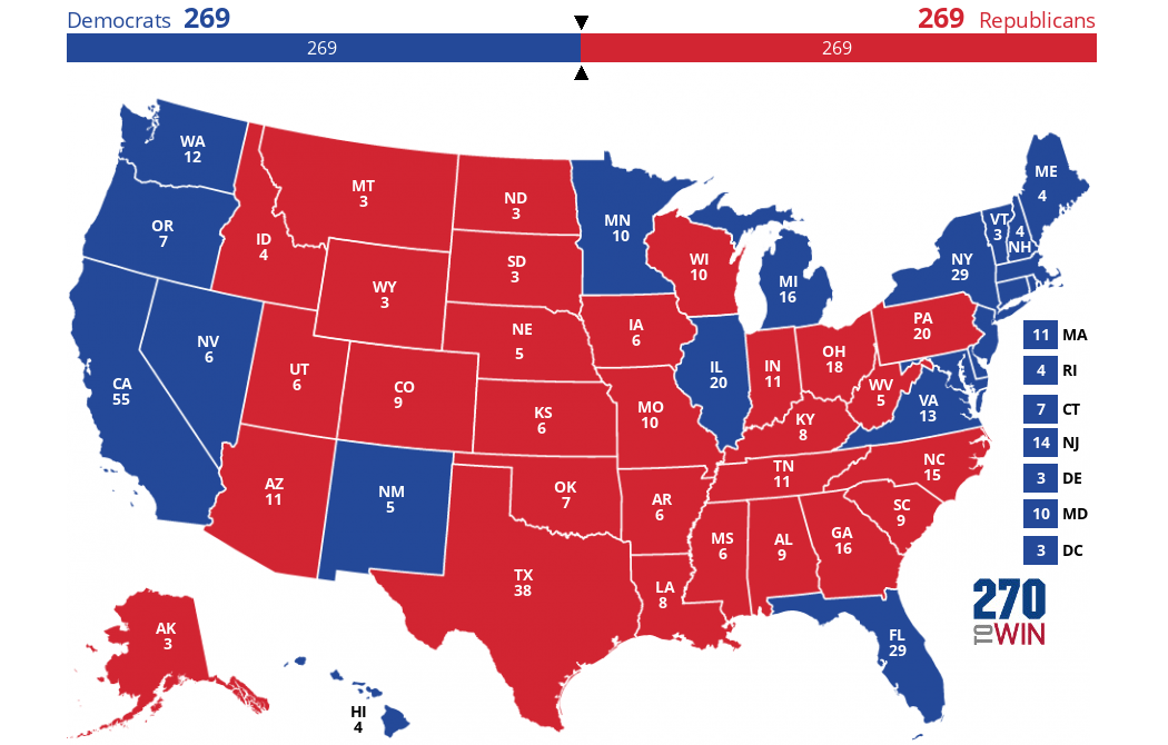 The Dem Nightmare Map
