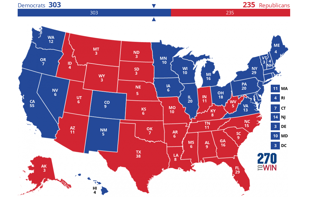 2020 Presidential Election Interactive Map on