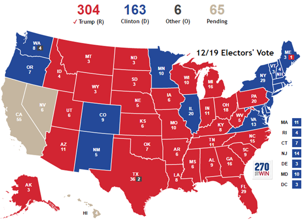 Image result for electoral college map 2016 you tube