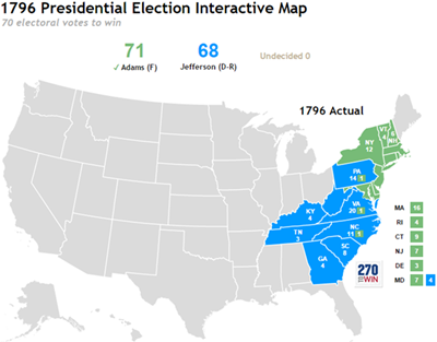 Change History Interactive Maps For All Presidential Elections - Us electoral map interactive