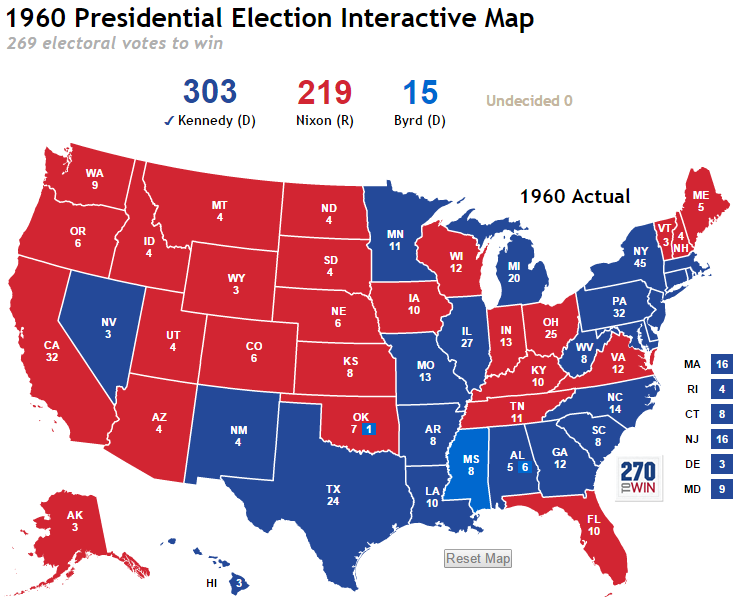 More Historical Interactive Maps Launched - Us electoral map interactive