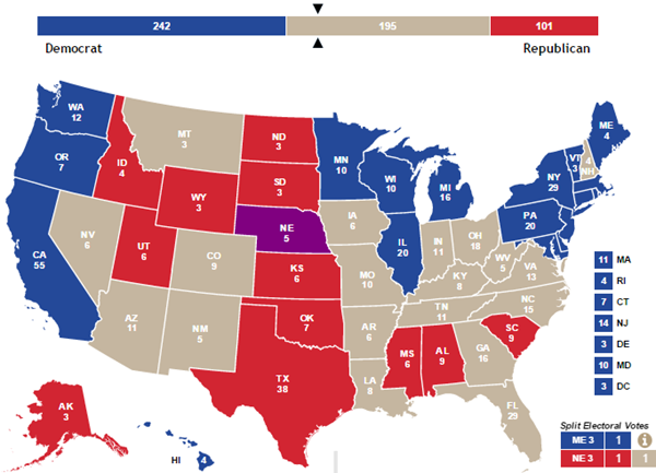 Election News Polls And Results - 1992 election us map