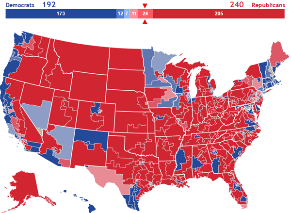 2018 Interactive House Map With Initial Race Ratings