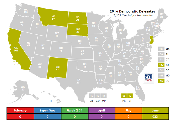 Election News Polls And Results - Us delegates map