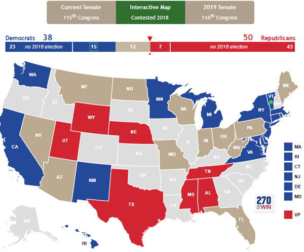2018 Senate Map Updated For Alabama Special Election